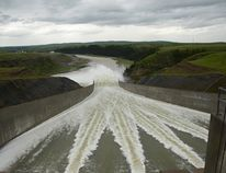 The Oldman Dam spillway during the June 2014 high water event in Pincher Creek. John Stoesser photo/Pincher Creek Echo.