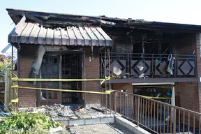 Fire scene on Abigail Place in Etobicoke where two seniors were killed Sunday November 2, 2014. (Craig Robertson/Toronto Sun)