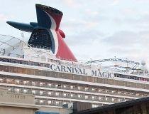 The Carnival cruise ship Carnival Magic
