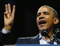 U.S. President Barack Obama at Temple University in Philadelphia, November 2, 2014. REUTERS/Larry Downing