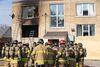 Apartment building fire, Nov. 3 at 1451 Oxford St. E. (DEREK RUTTAN, The London Free Press)