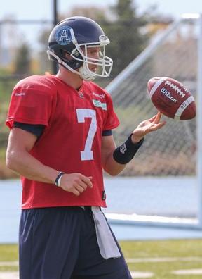 Argos quarterback Trevor Harris. (Dave Thomas, Toronto Sun)