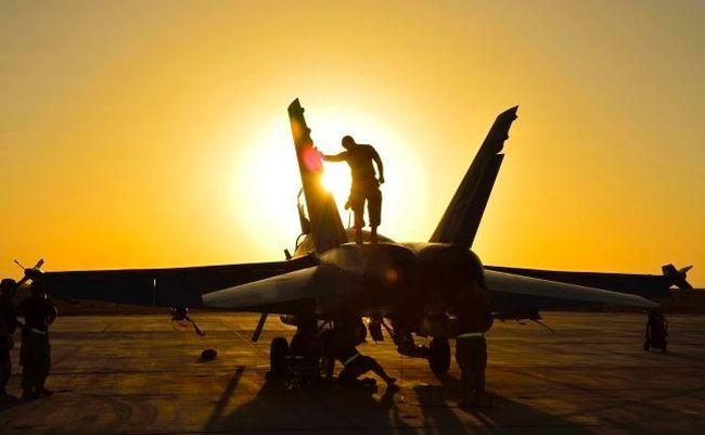 A CF-18 in Kuwait.