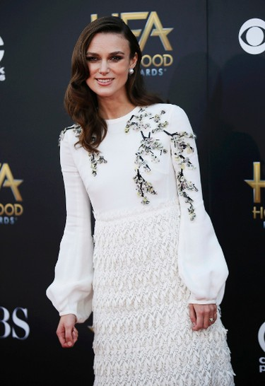 Actress Keira Knightley arrives at the Hollywood Film Awards in Hollywood, California November 14, 2014.  REUTERS/Danny Moloshok