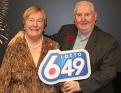 <p>Averil and Gerald of Calgary won $5 million in the November 5 LOTTO 6/49. Photo courtesy of WCLC/Calgary Sun/QMI Agency