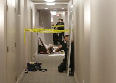 The scene of a Liberty Village condo explosion. (CRAIG ROBERTSON/Toronto Sun)