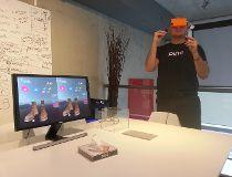 Cordon Media Inc. president Milan Baic demonstrates Pinc VR
