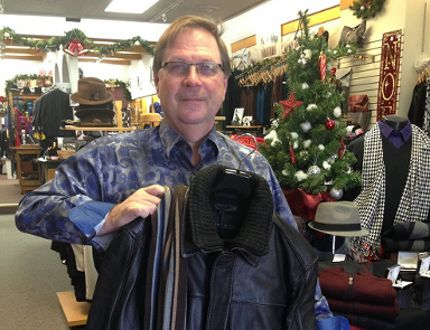 Cam Carter of Carter's Men's Wear in downtown Simcoe. (Chris Thomas photo)