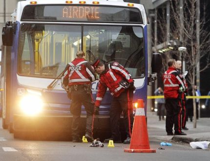 Calgary bus collision Nov 26 2014