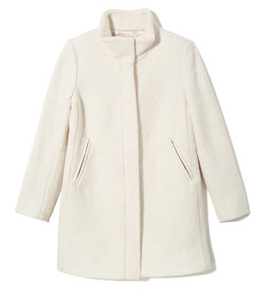 For the winter wonderland lover.Funnel Neck Coat, $188; Loft