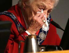 Outgoing Mississauga Mayor Hazel McCallion during her last council meeting on Wednesday, November 26, 2014. (Craig Robertson/Toronto Sun)