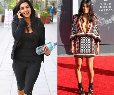 BEFORE AND AFTER: Kim Kardashian (WENN.COM)