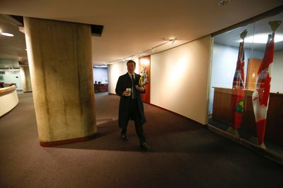 New era in Toronto city politics as Toronto mayor John Tory arrives at city hall to check out his office on Monday December 1, 2014. Jack Boland/Toronto Sun/QMI Agency