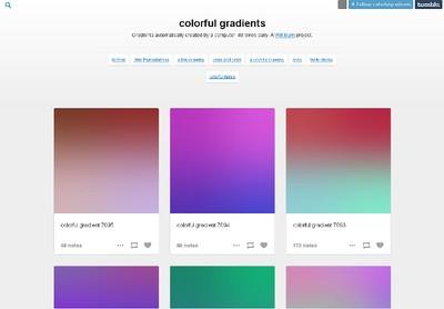 Colorful gradients. (SCREENSHOT)