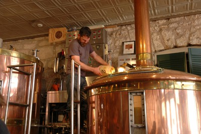 The brewer at Fredericksburg Brewing Company waiting to add hops into a boil kettle. Fredericksburg, Texas. (Photo: Kate Schwass-Bueckert/QMI Agency)