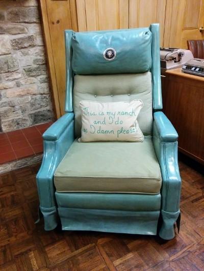 A chair at the ranch home of Lyndon B. Johnson, near Fredericksburg, Texas. (Photo: Kate Schwass-Bueckert/QMI Agency)