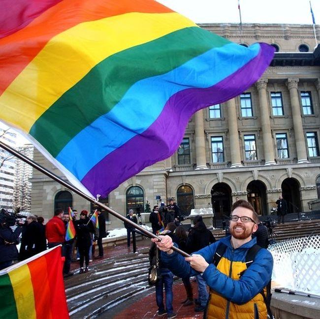 Gay protest Nov 4 Calgary