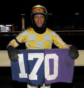 Patrick Husbands wone the Woodbine's jockey title with 170 victories. MICHAEL BURNS/PHOTO