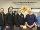 Kinsmen (left to right) Richard Chabot, Greg Youzwa, Brad Cummings with board member Wayne Posehn, and Managing Director Hugh McDonald for Handy-works.