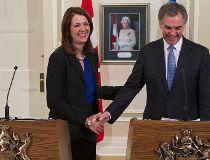 Daniel Smith and Alberta Premier Jim Prentice