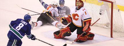 Calgary Flames lose in OT against Canucks