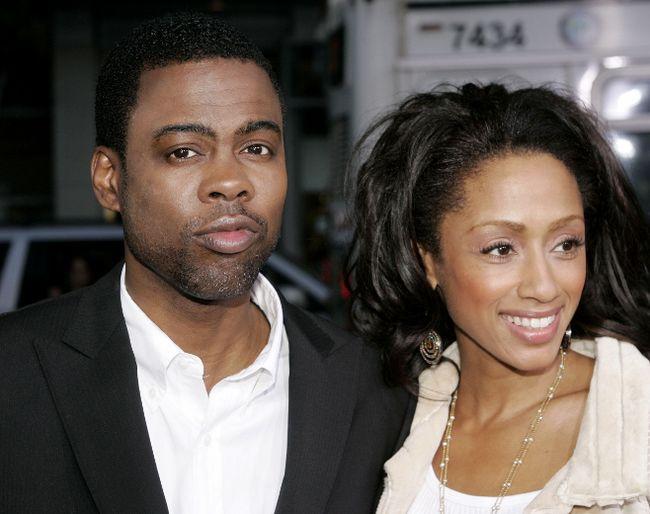 Chris Rock with wife Malaak Compton-Rock. (Reuters files)