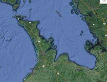 The Bruce Peninsula and surrounding area. Google Maps screen shot image.