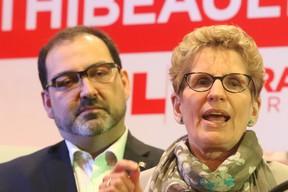 Ontario Premier Kathleen Wynne and Energy Minister Glenn Thibeault. (QMI AGENCY PHOTO)