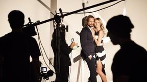 Heidi Klum and Gabriel Aubry pose for Macy's INC International Concepts campaign.