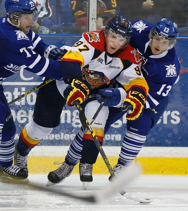 Connor McDavid in action for the Erie Otters vs. the Mississauga Steelheads in Oakville on September 14, 2014. (Craig Robertson/Toronto Sun/QMI Agency)