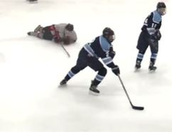 Elusive New Jersey high school player Julian Kislin is the latest viral sports star. (YouTube screen grab)