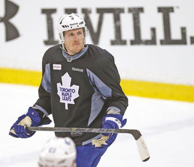 Leafs captain Dion Phaneuf. (CRAIG ROBERTSON/Toronto Sun)