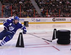 Phil Kessel skates hard at the NHL's All-Star Skills Competition in Ottawa three years ago. (Tony Caldwell/QMI Agency/Files)