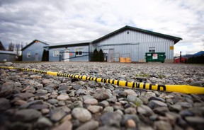 A view of a poultry farm that was under quarantine due to bird flu, or avian influenza, in Chilliwack, B.C., Dec. 8, 2014. (BEN NELMS/Reuters)