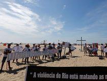 Protesting violence in Rio de Janeiro