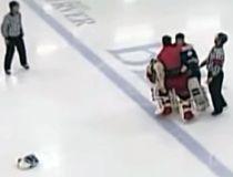 CCHL goalie fight