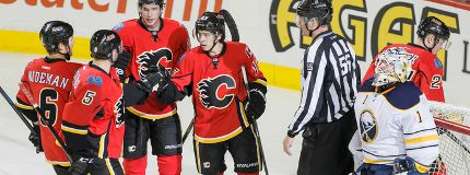 Calgary Flames defeat Buffalo Sabres at Dome