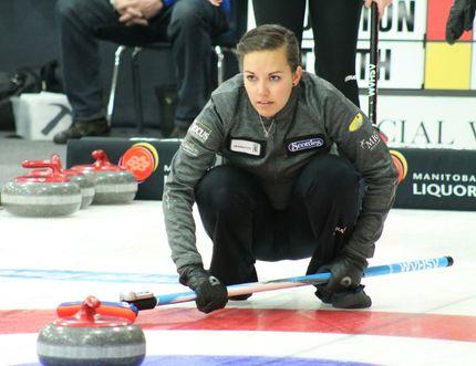 Sabrina Neufeld. Scotties 2015. Winkler Manitoba. (GREG VANDERMUELEN/Winkler Times)