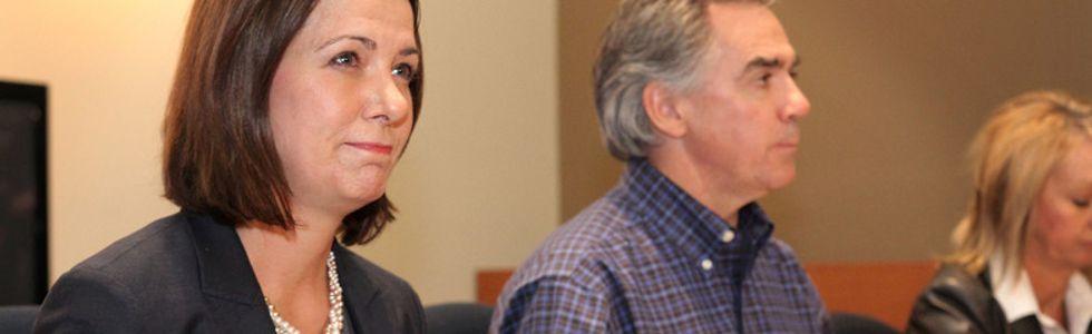 Danielle Smith and Jim Prentice, Jan. 24 2014
