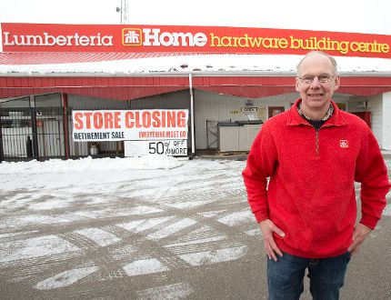 Stuart Kernohan is retiring and closing Lumberteria Home Hardware Building Centre in London..DEREK RUTTAN/ The London Free Press /QMI AGENCY