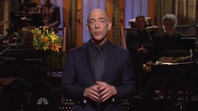J.K. Simmons as host of Saturday Night Live. (HANDOUT/NBC)