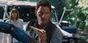 Chris Pratt in a scene from Jurassic World, opening June 12.