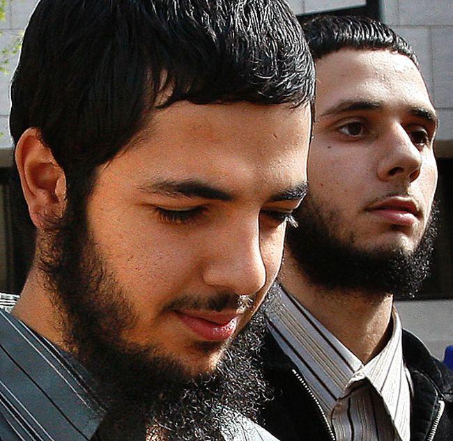 Awso Peshdary (left) leaves court in 2010. (Tony Caldwell/Ottawa Sun)