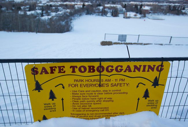 An Australian man died in a toboggan accident at the Edmonton Ski Club early Sunday. (David Bloom/Edmonton Sun)