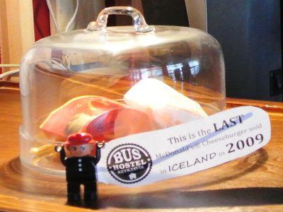 The last McDonalds hamburger in Iceland. (Anthony Stanley/WENN.com)