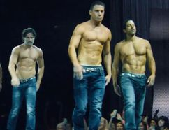 From left to right: Matt Bomer, Kevin Nash, Joe Manganiello, Channing Tatum and Adam Rodriguez.