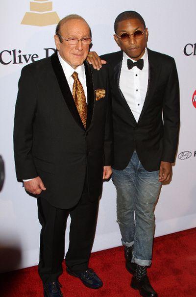 Pre-GRAMMY Gala & Salute to Industry Icons with Clive Davis: Clive Davis & Pharrell Williams. (Adriana M. Barraza/WENN.com)