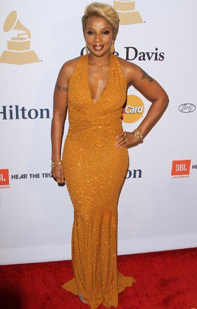 Pre-GRAMMY Gala & Salute to Industry Icons with Clive Davis: Mary J Blige. (Adriana M. Barraza/WENN.com)