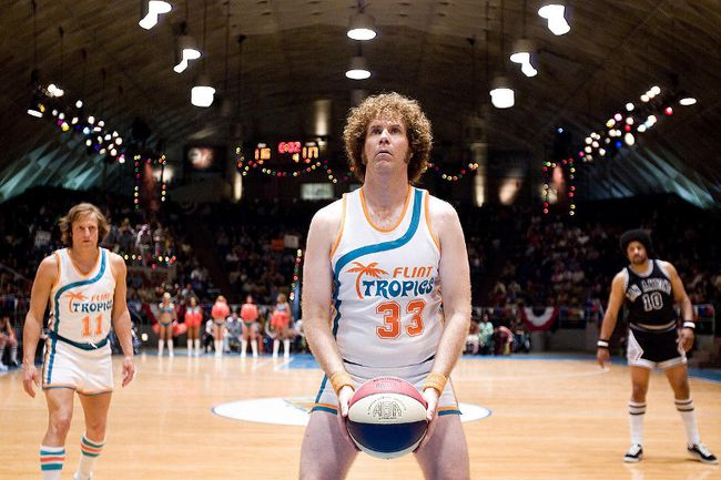 Actor Will Ferrell in Semi-Pro, a 2008 comedy featuring the fictional Flint Tropics basketball team. (Handout)