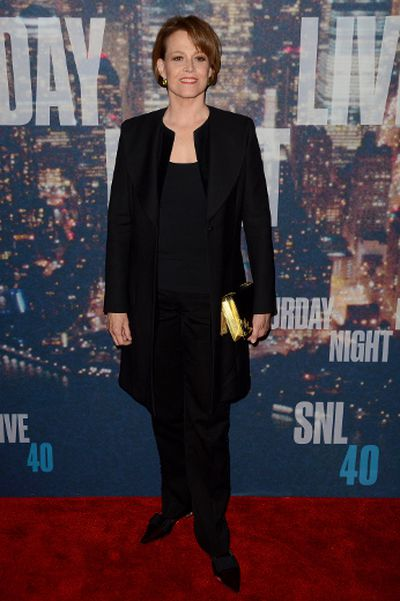"Sigourney Weaver attends SNL 40th Anniversary Celebration at Rockefeller Plaza on February 15, 2015 in New York City. (Ivan Nikolov/<A HREF=""http://www.wenn.com"" TARGET=""newwindow"">WENN.COM</a>)"